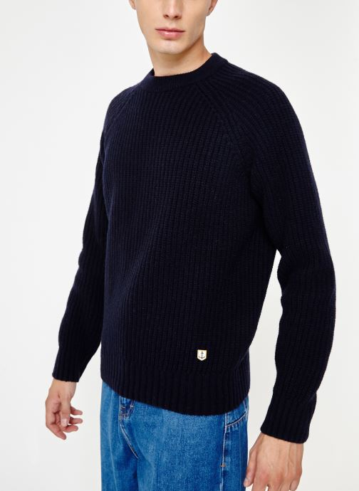 Kleding Armor Lux Pull Col Rond Héritage Blauw detail