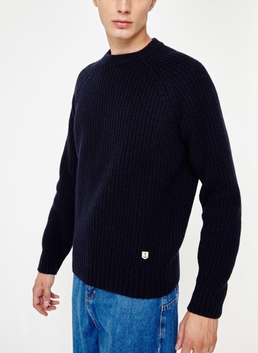 Vêtements Armor Lux Pull Col Rond Héritage Bleu vue détail/paire