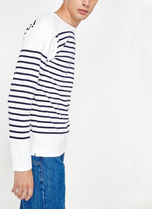 Vêtements Armor Lux Marinière Amiral Blanc vue droite
