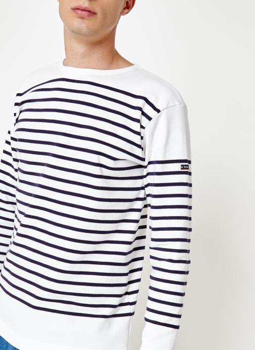 Vêtements Armor Lux Marinière Amiral Blanc vue détail/paire