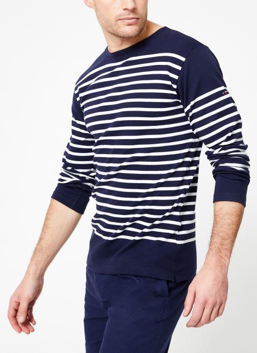 Vêtements Armor Lux Marinière Amiral Bleu vue droite