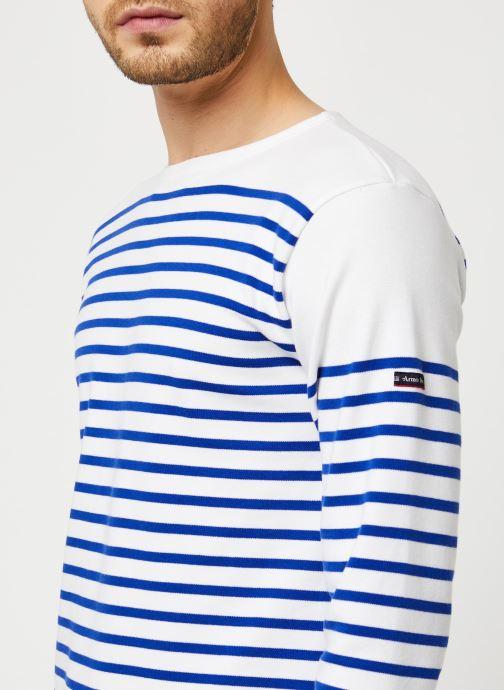Vêtements Armor Lux Marinière Amiral Blanc vue face