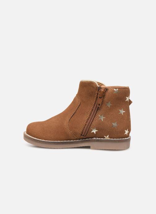 Boots en enkellaarsjes I Love Shoes KEIZA LEATHER Bruin voorkant