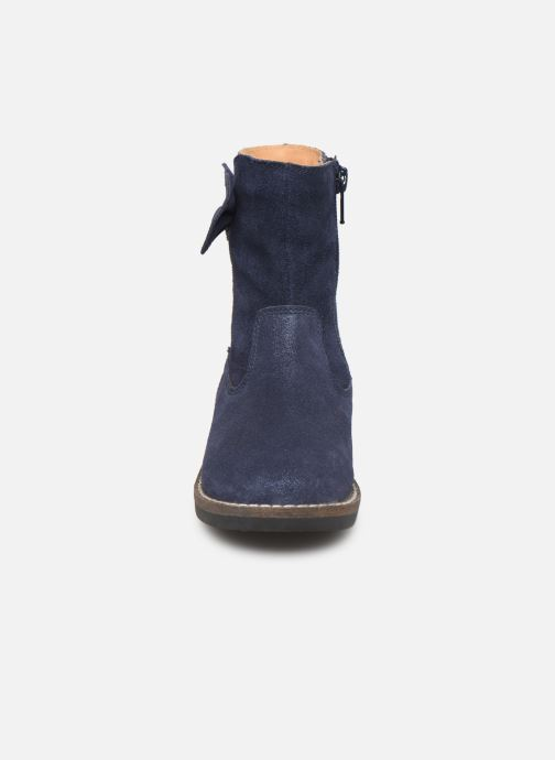 Bottes I Love Shoes KEICHA LEATHER Fourrée Bleu vue portées chaussures