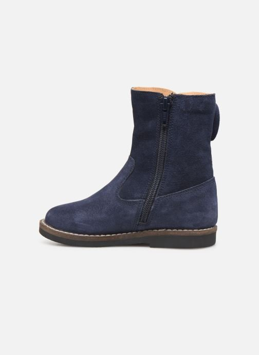 Bottes I Love Shoes KEICHA LEATHER Fourrée Bleu vue face