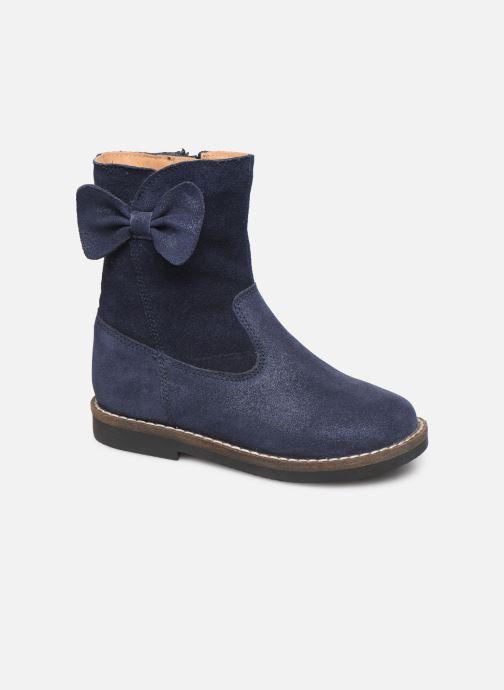 Bottes I Love Shoes KEICHA LEATHER Fourrée Bleu vue détail/paire