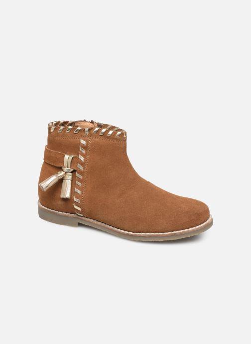 Ankelstøvler I Love Shoes KEUBRA LEATHER Brun detaljeret billede af skoene