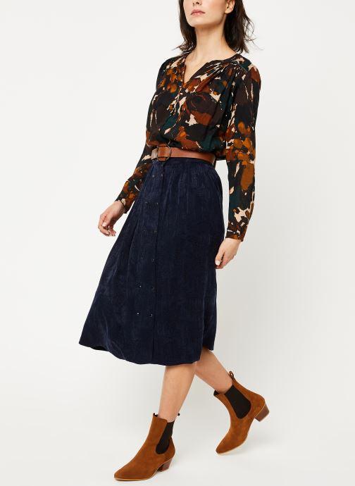 Vêtements Louizon Jupe Wimona Bleu vue bas / vue portée sac