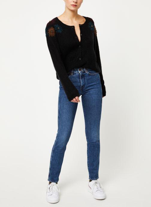 Vêtements Louizon Gilet Elsa Noir vue bas / vue portée sac