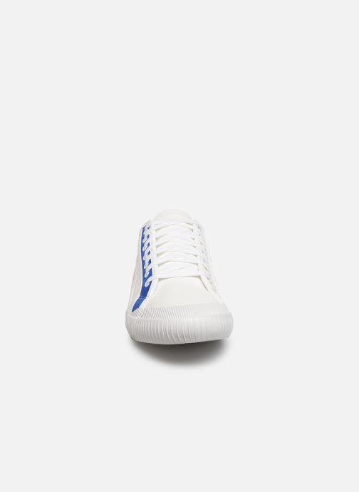 Baskets Le Coq Sportif Nationale Tricolore Blanc vue portées chaussures