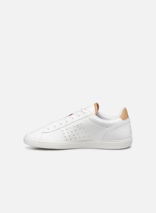 Sneakers Le Coq Sportif Courtstar Winter Bianco immagine frontale