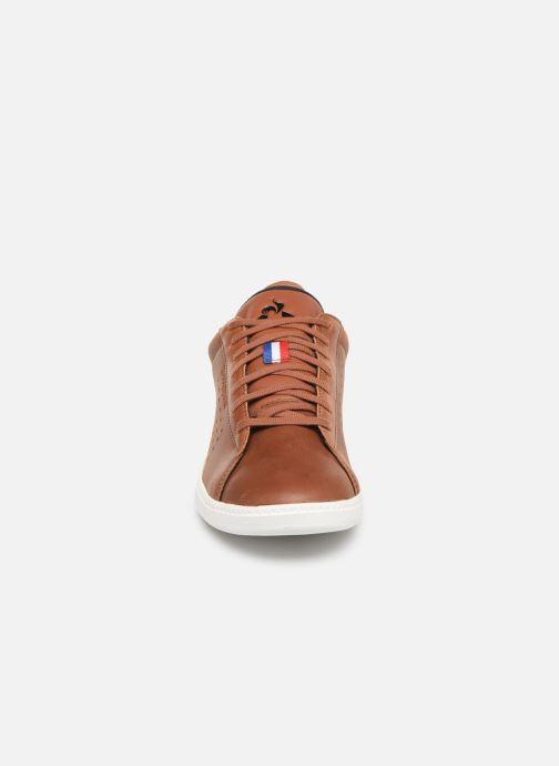 Baskets Le Coq Sportif Courtstar Winter Leather Marron vue portées chaussures
