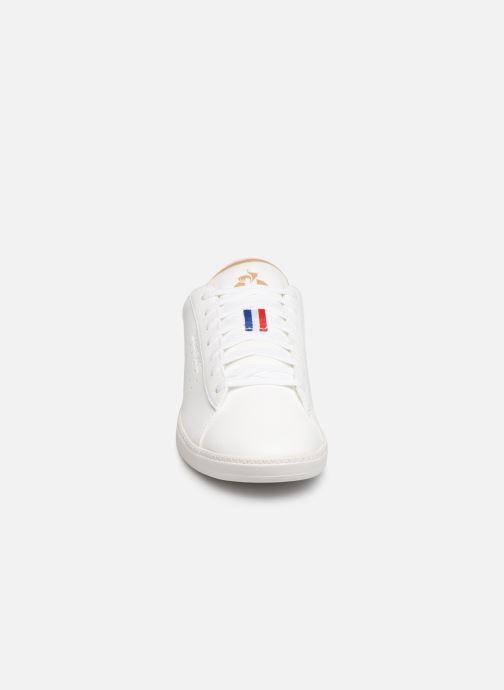 Sneaker Le Coq Sportif Courtstar Denim weiß schuhe getragen