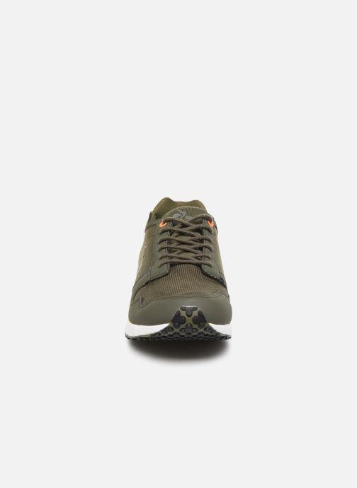 Baskets Le Coq Sportif Jazy X Tech Vert vue portées chaussures