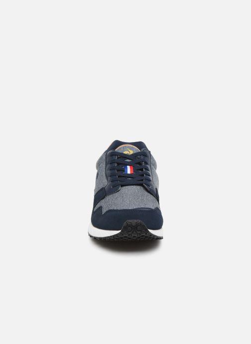 Baskets Le Coq Sportif Jazy Denim Bleu vue portées chaussures