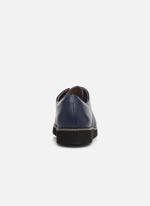 Zapatos con cordones Damart Antonelle Azul vista lateral derecha