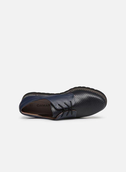 Zapatos con cordones Damart Antonelle Azul vista lateral izquierda