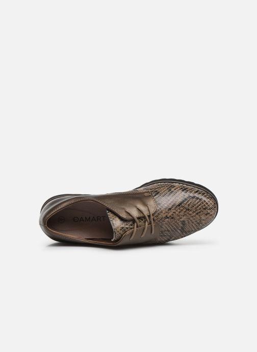 Chaussures à lacets Damart Antonelle Vert vue gauche