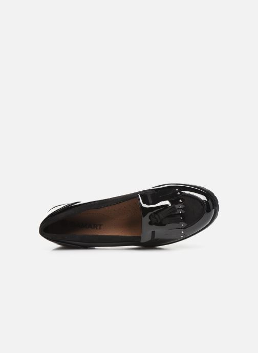 Loafers Damart Clelie Black view from the left