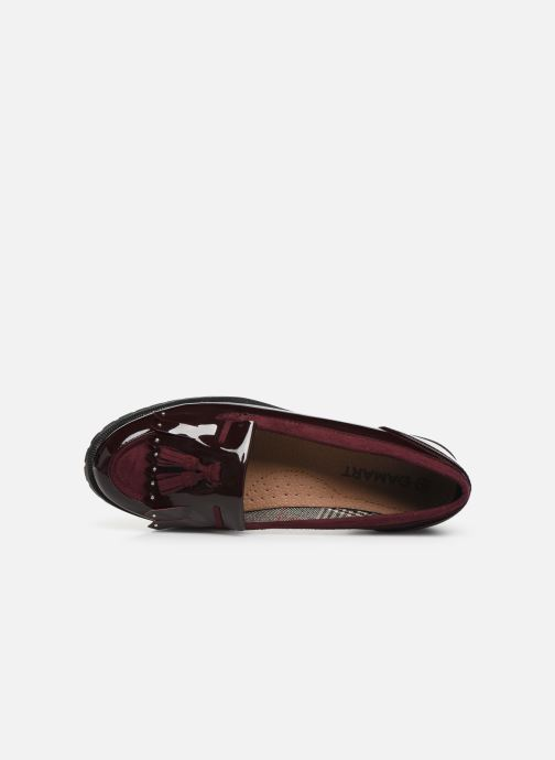 Loafers Damart Clelie Burgundy view from the left