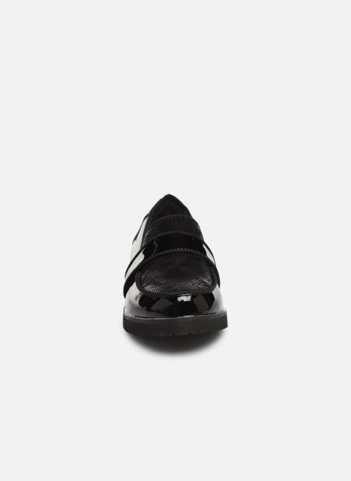 Slipper Damart Mounia schwarz schuhe getragen
