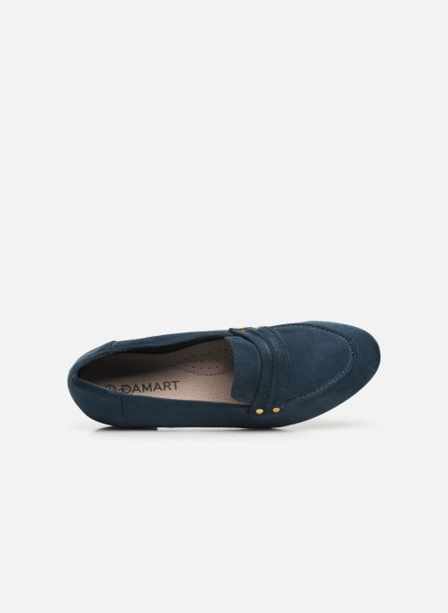 Loafers Damart Solene Blue view from the left
