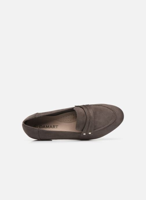 Loafers Damart Solene Grey view from the left