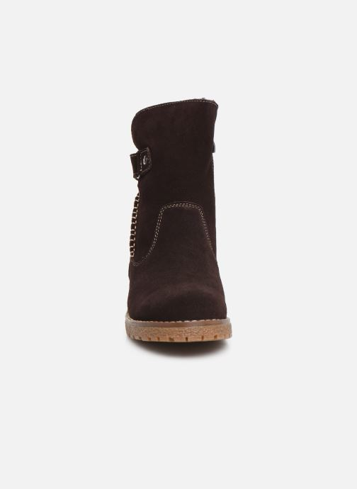 Bottines et boots Damart Laura Marron vue portées chaussures