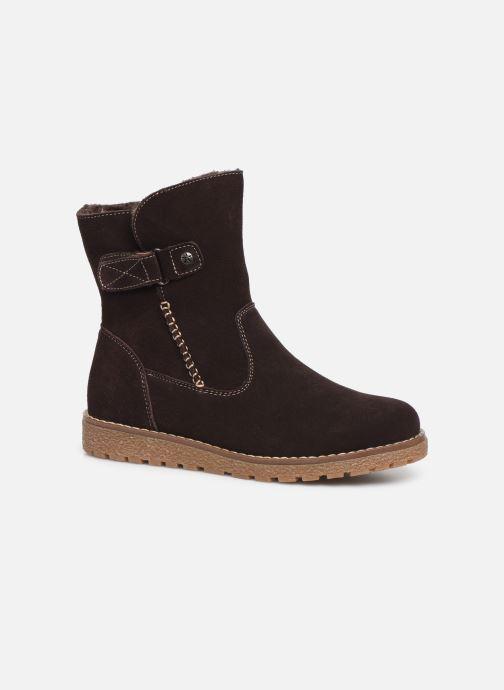 Bottines et boots Damart Laura Marron vue détail/paire