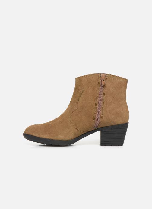 Bottines et boots Damart Maria Marron vue face