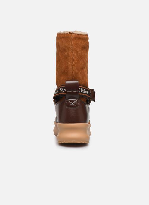 Bottines et boots See by Chloé Maggie Marron vue droite