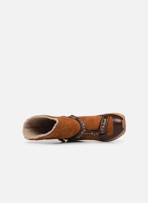 Bottines et boots See by Chloé Maggie Marron vue gauche