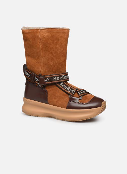 Bottines et boots See by Chloé Maggie Marron vue détail/paire