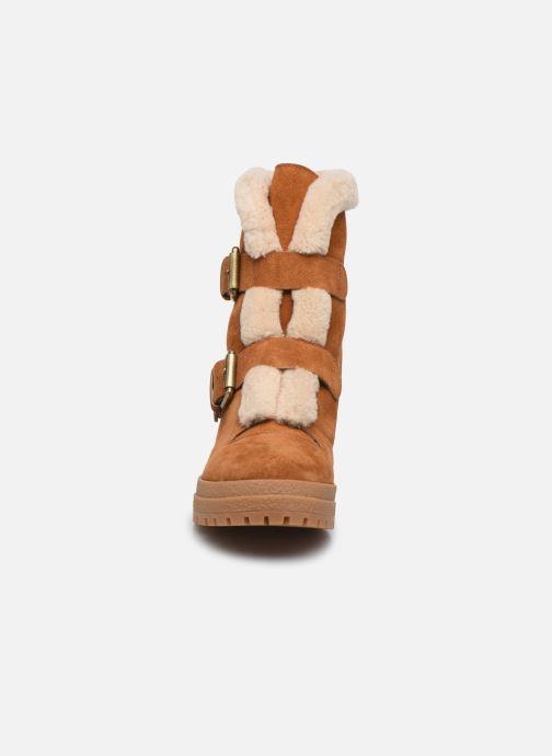 Bottines et boots See by Chloé Brandie Marron vue portées chaussures