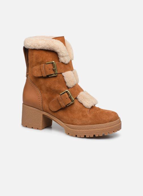 Bottines et boots See by Chloé Brandie Marron vue détail/paire