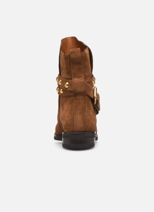 Bottines et boots See by Chloé Neo Janis Marron vue droite