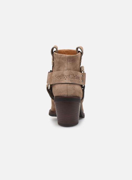 Bottines et boots See by Chloé F Eddie Beige vue droite