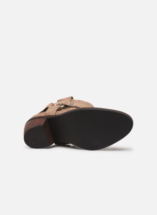 Boots en enkellaarsjes See by Chloé F Eddie Beige boven