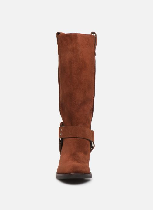 Bottes See by Chloé F Eddie high boot Marron vue portées chaussures