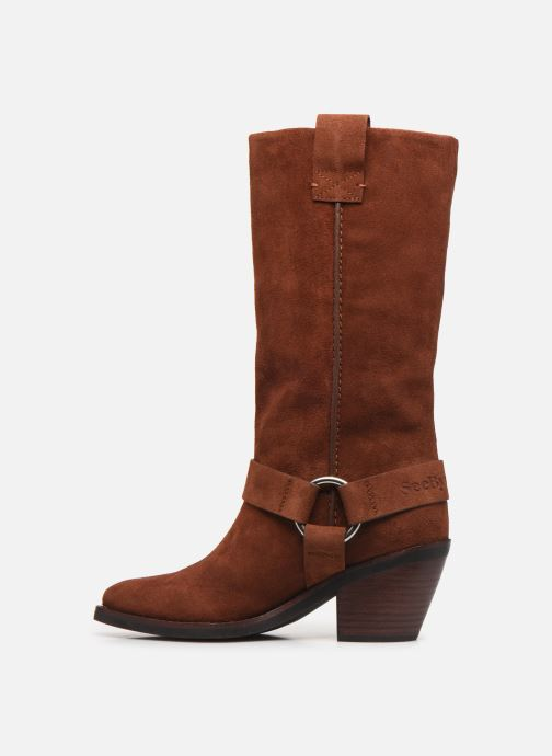 Bottes See by Chloé F Eddie high boot Marron vue face