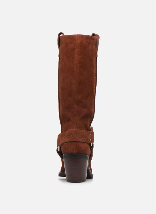 Bottes See by Chloé F Eddie high boot Marron vue droite
