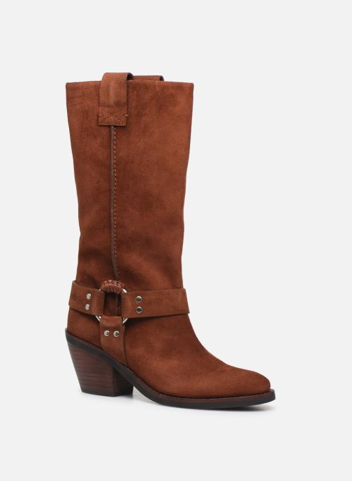 Bottes See by Chloé F Eddie high boot Marron vue détail/paire
