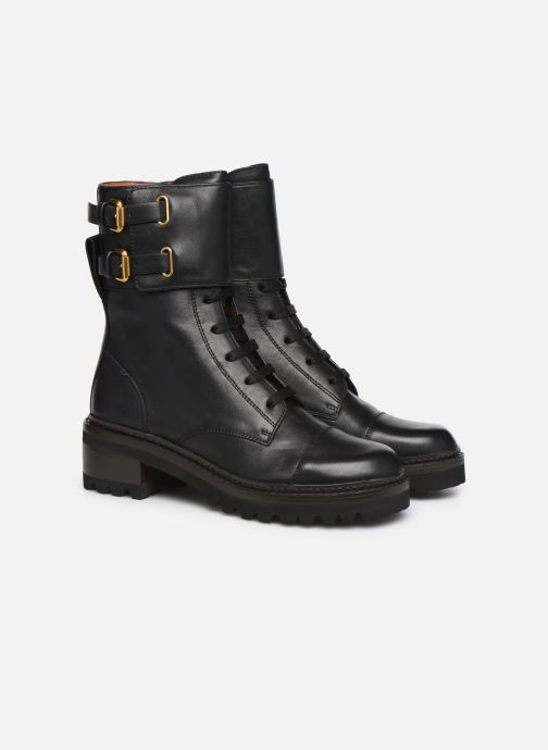 Bottines et boots See by Chloé Mallory Boot Noir vue 3/4