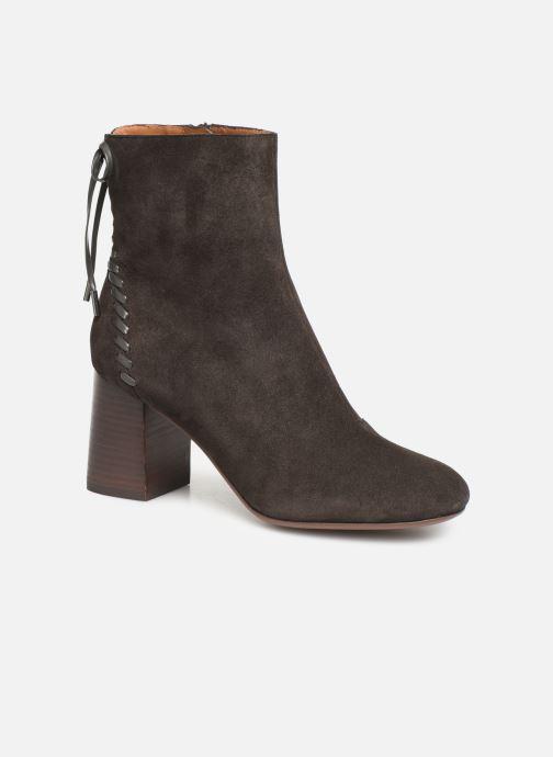 Ankelstøvler See by Chloé Reese Brun detaljeret billede af skoene