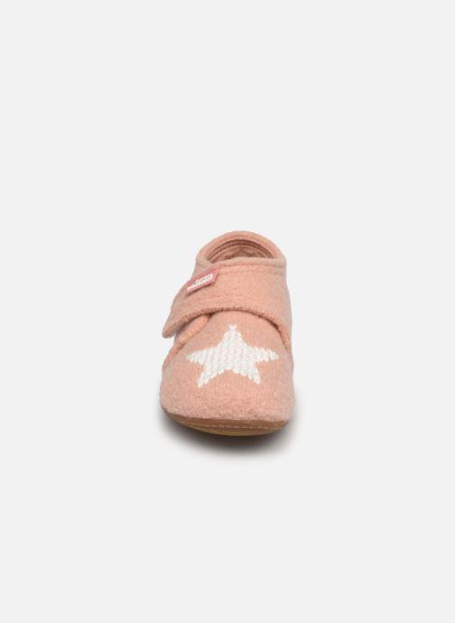 Chaussons Living Kitzbühel 3216 Rose vue portées chaussures