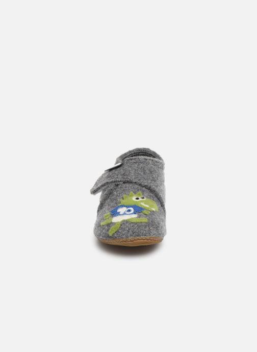 Chaussons Living Kitzbühel 3033 Gris vue portées chaussures
