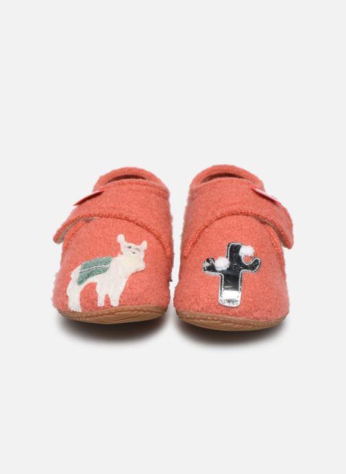 Chaussons Living Kitzbühel 3610 Orange vue portées chaussures