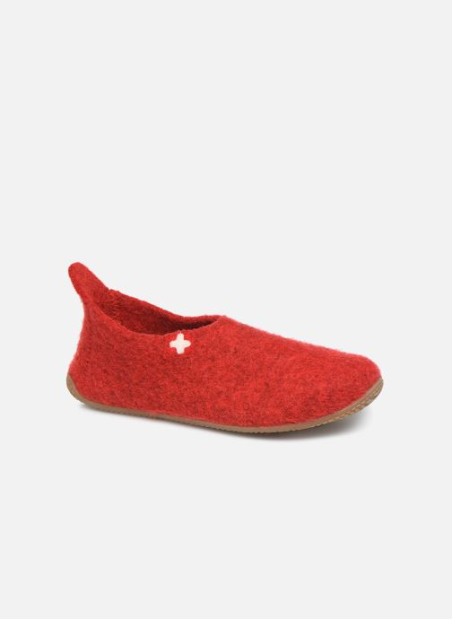 Slippers Living Kitzbühel 2448 Red detailed view/ Pair view