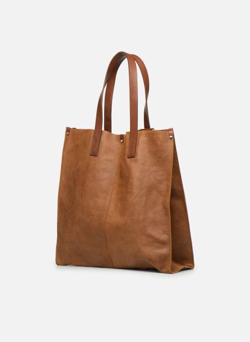 Handtaschen Georgia Rose Nadilo Leather braun schuhe getragen
