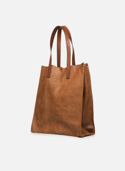 Handtaschen Georgia Rose Nadilo Leather braun ansicht von rechts